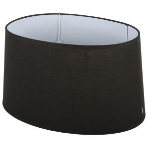 Lampenschirm oval schwarz  Ø 20 cm