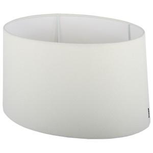 Lampenschirm oval  weiß  Ø 20 cm