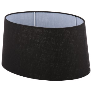 Lampenschirm schwarz oval  Ø 25 cm
