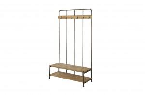 Garderobe Industrie Metall, Wand-Garderobe Landhaus, Breite 100 cm