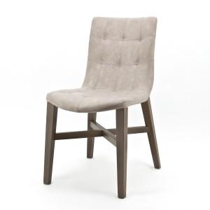 Stuhl sand, gepolstert, Gastro, Holz