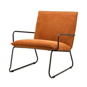 Sessel mit Armlehnen, Sessel Industriedesign in cognac