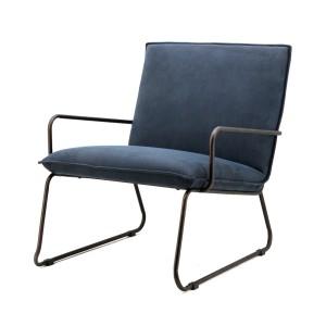 Sessel mit Armlehnen, Sessel Industriedesign in blau