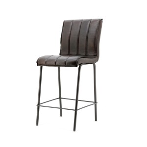 Barhocker gepolstert, Barstuhl dunkelbraun, Sitzhöhe 67 cm
