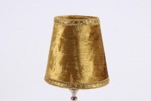Aufsteckschirm gelb-gold für Kronleuchter,  KIemmschirm - Lampenschirm gelb,  Ø 12 cm