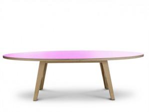 Ovaler Esstisch lila,  Tisch pink oval, Design-Tisch in fünf Größen