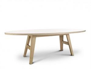 Ovaler Esstisch weiß,  Tisch weiß oval,  Esstisch in fünf Größen