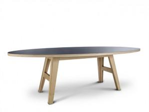 Ovaler Esstisch schwarz, Tisch schwarz oval, Design Esstisch in fünf Größen