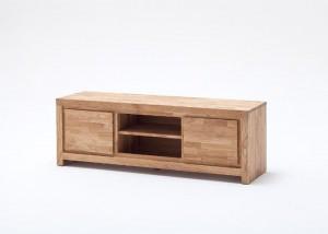 TV-Lowboard Massivholz Asteiche, Fernsehschrank massiv, geölt, Breite 150 cm