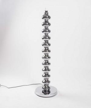 Lampenfuß für eine Stehlampe, Farbe Silber, Höhe 125 cm