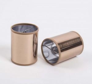 KIemmschirm zylindrisch Kupfer, Lampenschirm für Kronleuchter, Form rund Ø 10 cm
