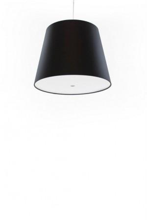 Pendelleuchte, Lampenschirm schwarz, moderne Pendellampe in sechs verschiedenen Farben, Ø 39 cm