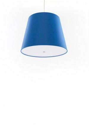 Pendelleuchte, Lampenschirm blau, moderne Pendellampe in sechs verschiedenen Farben, Ø 39 cm