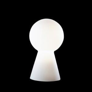 Tisch-/Boden-/Stehleuchte Metall chrom Glas weiß