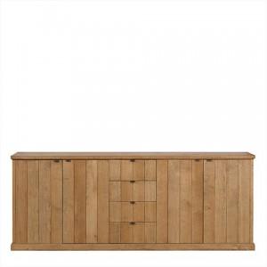 Sideboard / Anrichte aus Eichenholz massiv mit vier Schubladen und vier Türen