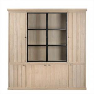 Vitrinen- Geschirrschrank mit acht Türen im Landhausstil
