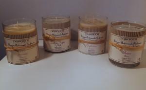 Duftkerze im Glas von Durance beige Düfte: Orchidee, Jasmin, Rose, Feige