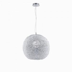 Pendelleuchte Aludraht, Kristallperlen transparent, modern Ø 40 cm