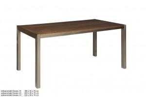 Esstisch, Tisch Walnuss furniert, Maße 160 x 95 cm