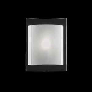 Wandleuchte Metall, Glas weiß transparent