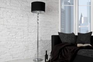 Stehleuchte schwarz / silber modern