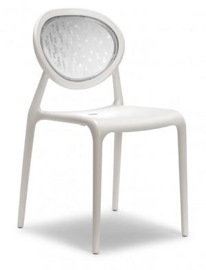 Design Stuhl Kunststoff Glasfaser leinen