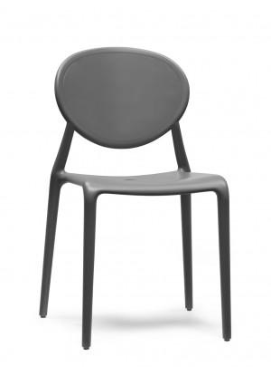 Design Stuhl Kunststoff Glasfaser anthrazit