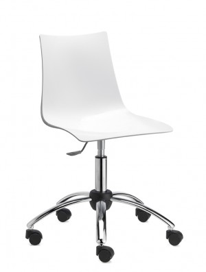 Design Stuhl, Kunststoff, Aluminium Sitzhöhe 50-63 cm
