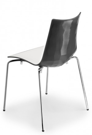 Design Stuhl, Kunststoff in vier Farben