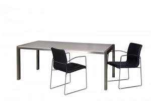Esstisch, Tisch  Farbe beige-grau , Maße 220 x 95 cm