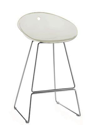 Design Barhocker Farbe weiss, 65 cm Sitzhöhe