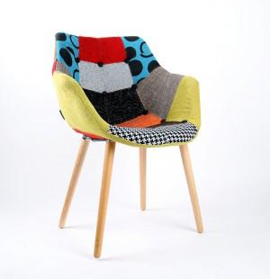 Design Stuhl mit Armlehne gepolstert, Multicolor