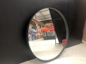 Spiegel rund schwarz, Spiegel Metallrahmen schwarz, Durchmesser 90 cm