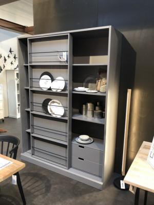 Küchenschrank grau, Schrank grau, Breite 150 cm