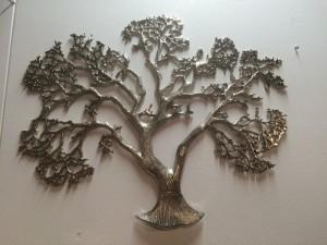 Dekobaum, Baum aus Aluminium als Dekoration, Breite 76 cm