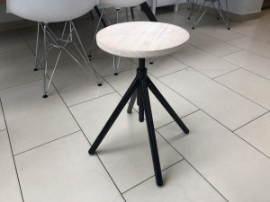 Hocker schwarz verstellbar, Barhocker Industriedesign schwarz, Sitzhöhe 41-62 cm