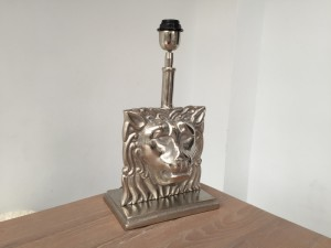 Tischleuchte Lion, Tischlampe silber