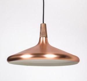Moderne Pendelleuchte Kupfer, Hängeleuchte, Farbe Kupfer, Ø 39 cm