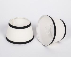 Lampenschirm, Weiß-Schwarz, Form rund Ø 20 cm