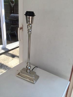 Lampenfuß verchromt, Lampenfuß für Tischleuchte, Höhe 40 cm