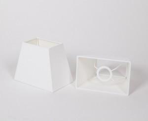 Lampenschirm rechteckig, Farbe Weiß,  Maße 12 x 19 cm