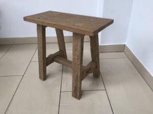 Hocker Holz, Holzhocker Altholz, Sitzhöhe 45 cm