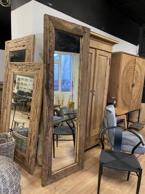 Spiegel Altholz, Wandspiegel Altholz Teak, Maße 210x70 cm