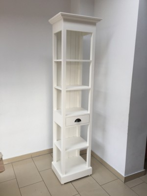 Badezimmerschrank weiß Landhausstil, Regal weiß Landhaus, Schrank weiß, Breite 50 cm