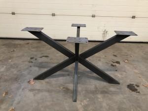 Tischgestell grau Metall Industriedesign, Tischgestell für Esstisch Industrie Metall