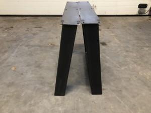 2er Set Tischgestell grau Metall Industriedesign, Tischgestell für Esstisch Industrie Metall
