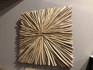 Wandobjekt Altholz, Deko-Wandbild Altholz, Dekorationsobjekt Holz, Maße 85 X 85 cm
