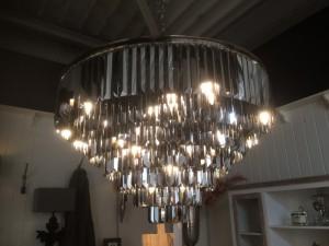 Kristall - Kronleuchter,  Hängelampe aus Glas, Durchmesser 116 cm