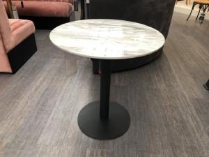 Runder Bistrotisch schwarz, Bistrotisch rund, Durchmesser 70 cm
