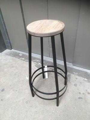 Barhocker Metall-Gestell, Tresenhocker  Farbe schwarz, Sitzhöhe 74 cm